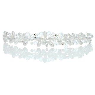 Bridal Wedding Rhinestone Crystal Beads Faux Pearl Prom Headband Tiara