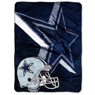 NFL Dallas Cowboys 60-Inch-by-80-Inch Micro Raschel Blanket,