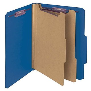 Smead Pressboard Classification File Folder - Letter Size - Dark Blue - 10 Per Box (14032)