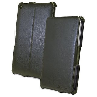 GreatShield VANTAGE Series Leather Case with Multi-Angle Stand for HP Slate 7 Android Tablet (Black)