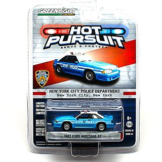 NYPD 1987 FORD MUSTANG GT New York City, New York 2014 Hot Pursuit (Series 14) 1:64 Scale Limited Edition Die-Cast Vehic