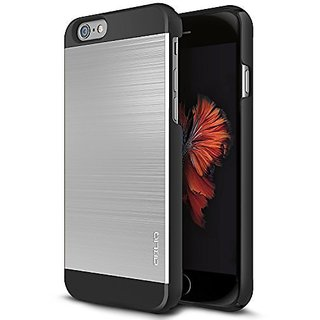 iPhone 6S Case, OBLIQ [Slim Meta II][Satin Silver/Black] Premium Slim Fit Thin Armor All-Around Shock Resistant Polycarb