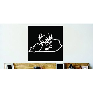 Design with Vinyl Decor Item Kentucky Wild Deer Buck Hunt Vinyl Wall Decal Sticker Decor Color : Black Size: 20 Inches X