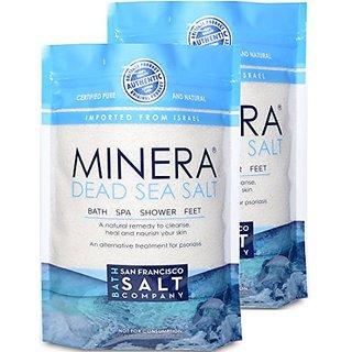 Minera Dead Sea Salt 10Lb (Qty 2 X 5Lb Bags) 100% Pure & Certified. Natural Treatment For Psoriasis, Eczema, Acne & More