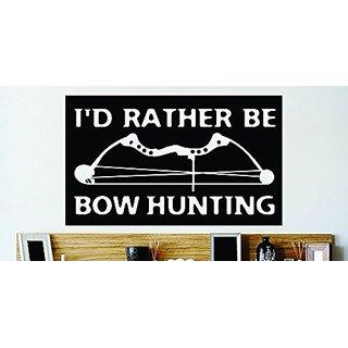 Design with Vinyl Cont 160 3 Decor Item Rather Be Bow Hunting Hunting Animal Vinyl Wall Decal, 20 by 40-Inch, Black