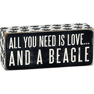 Primitives By Kathy Box Sign, 2.5-Inch By 6-Inch, Beagle