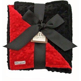 MEG Original Minky Dot Baby Blanket Red/Black