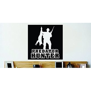 Design with Vinyl Cont 173 2 Decor Item Gun Man Predator Hunting Animal Vinyl Wall Decal, 18 by 18-Inch, Black