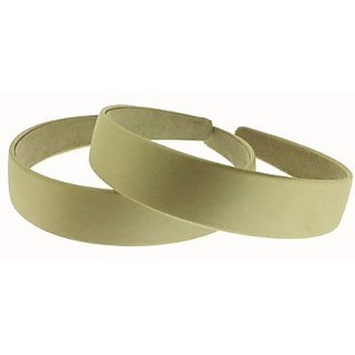 Trimweaver 1-Piece 25mm Satin Covered Headband, 1-Inch, Tan