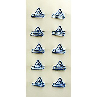 10 Piece Blue Triangle Novelty Paper Clips! Office Supply or Personal Use! Unique!
