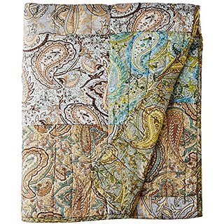 Greenland Home Vintage Paisley Quilted Throw