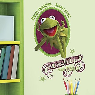 Roommates Rmk1813Gm Muppets Kermit Peel And Stick Giant Wall Decal
