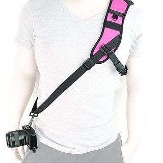 MegaGear Single Shoulder Neoprene Neck Strap Belt For Camera SLR DSLR HotPink