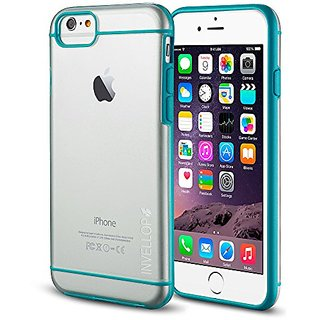 iPhone 6S case, INVELLOP BLUE/CLEAR iPhone 6 / 6S Case [Prime Series] Scratch-Resistant Clear Slim Fit Cover with Shock