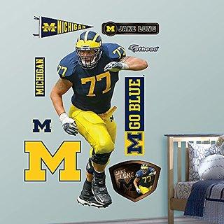 NCAA Michigan Wolverines Jake Long Wall Graphic