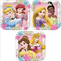 Disney Princess Party Plates - Disney Princess Square D