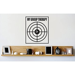 Design with Vinyl 1 Zzz 275 Decor Item My Group Therapy Bullseye Target Image Quote Wall Decal Sticker, 12 x 12-Inch, Bl