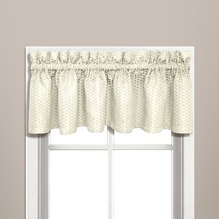 United Curtain Hamden Woven Waffle Valance, 57 by 14-Inch, Ivory