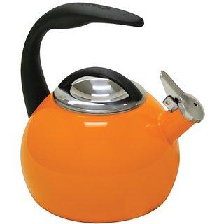 Chantal 40th Anniversary 2-Quart Enamel on Steel Teakettle, Orange