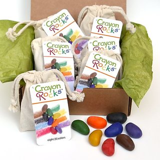 Crayon Rocks Eight Colors In A Cotton Muslin Bag (Pack Of 6 In A Box)