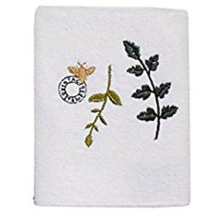 Avanti Linens Botany Wash Towel, White