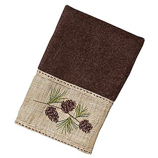 Avanti Linens 038102MOC Pine Branch Hand Towel, Medium, Mocha