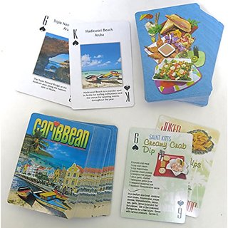 Tropical Recipes Deck and caribbean Deck, Playing Cards, Souvenir, Tourist Gift, Vacation Gift, Two Deck Set