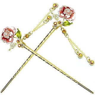 Yoy Fashion Hair Decor Chinese Traditional Style Hair Sticks Shawl Pins Picks Pics Forks For Women Girls Hair Accessory