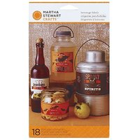 Martha Stewart Crafts Beverage Label, Assorted Carnival