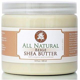 Beige Organic All Natural Unrefined Shea Butter - Moisturizer, Anti-Inflammatory and Anti-Aging Properties - 16 oz.