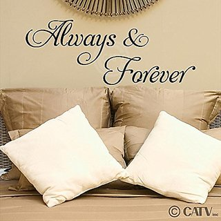 Always and Forever (M) Wall Saying Vinyl Lettering Home Decor Sticker Stickers Quotes