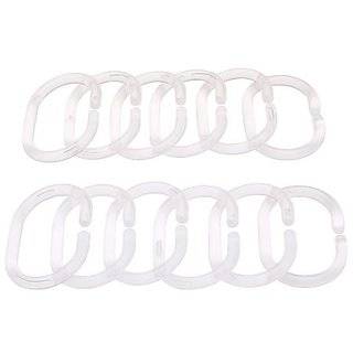 Ikea Shower Curtain Rings 12 Pack Clear