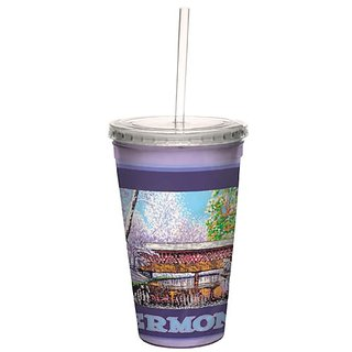 Tree-Free Greetings Traveler Double-Walled Cool Cup With Reusable Straw 16 Ounce - Cc33019