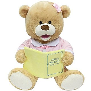 Cuddle Barn New Animated Singing Teddy Bear Plush Toy - Miss Melody (CB2871)