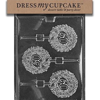 Dress My Cupcake DMCL030 Chocolate Candy Mold, 60 Lollipops