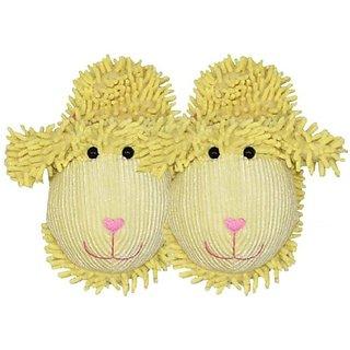 Bath Accessories Just for Fun Plush Spa Slippers, Lamb