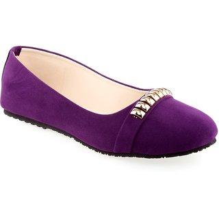 Aashka Women's Purple Slip On Bellies
