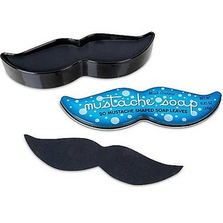 20 Mustache Soap Leaves in Keepsake Tin-Musk Scented by ACC