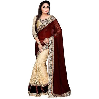 Mahamaya Creation Multicolor Georgette Normal Saree With Blouse