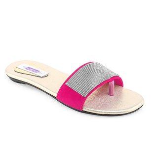 Aashka Women's Pink Slip on Flats
