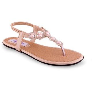 Aashka Women's Beige Slip on Flats