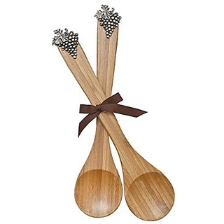Thirstystone Bamboo Serving Spoons, Grapes