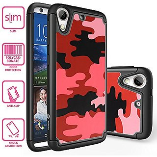 HTC Desire 626 Case, Style4U Camouflage Design Dual Layer Hybrid Armor Protective Case Cover for HTC Desire 626 with 1 S