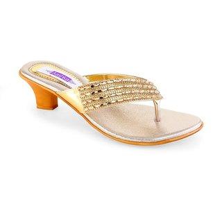 Aashka Women's Gold Heels