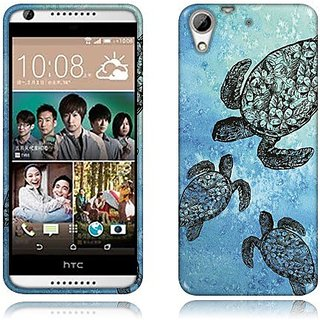 Nextkin HTC Desire 626 626S Flexible Slim Silicone TPU Skin Gel Soft Protector Cover Case - Ocean Sea Turtle