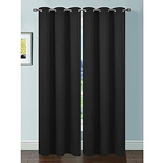 Bella Luna Ana Woven Room Darkening Extra Wide 54 x 84 in. Grommet Curtain Panel, Charcoal
