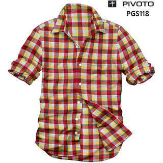 Platinum Multicolor Checks Half Sleeve Formal Shirts