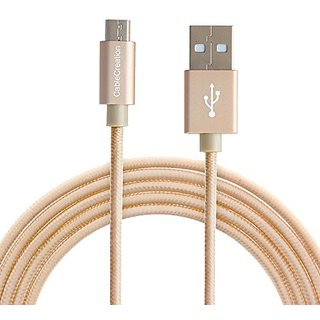 CableCreation USB 2.0 - Micro-USB to USB Cable - High-Speed A Male to Micro B Triple Shielded Cable 4ft/1.2M Gold Cotton