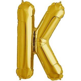 Letter K - Gold Helium Foil Balloon - 34 inch