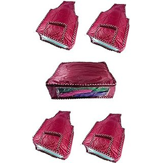 Kuber Industries Blouse Cover 4 Pcs Set Amp Saree Cover (5 Pcs Set) Scbcrex309